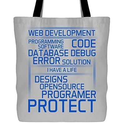 Amazon.com: Bolsas de lona de la compra Im A Programmer ...