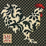 Dimensions Needlecrafts Needlepoint, Black and White Rooster