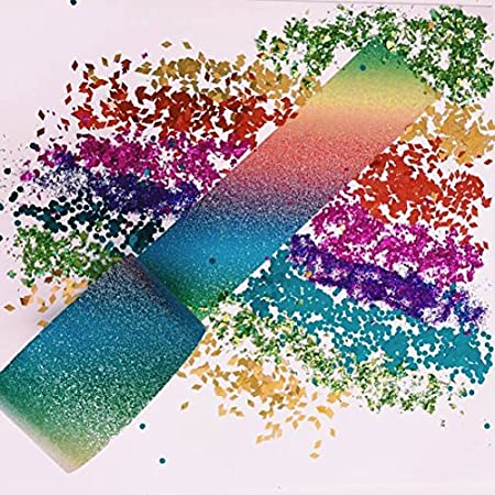 1.88-Inch x 5-Yard Roll Duck Brand Glitter Crafting Tape 283704 Rainbow Ombre