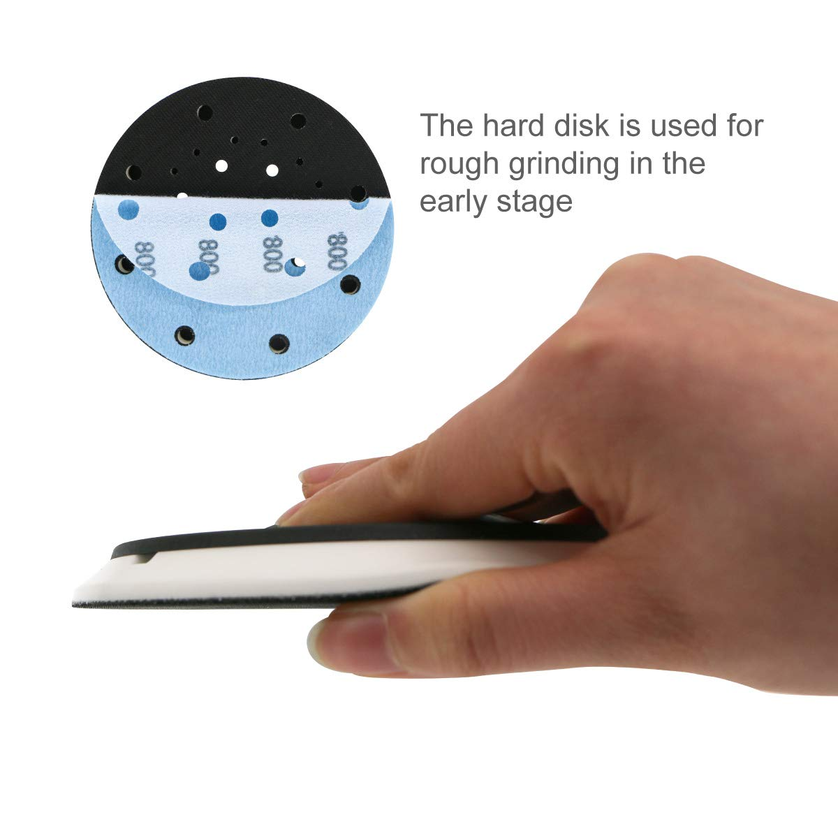 6 Inch 17-Hole Backup Pad Hook and Loop Soft Backing Pad for Sanding Electric Grinder Power Tools Accessories by VIBRATITE