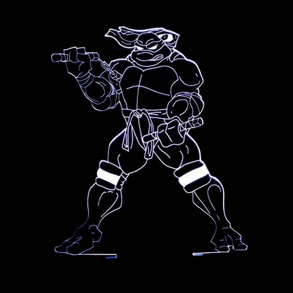 Led lampara Infantil luz,Ninja Tortuga 3D Luz Colorida de la ...