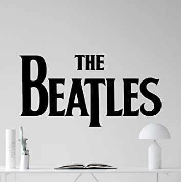 Amazon.com: The Beatles Logo Wall Decal Rock Music Band Vinyl ...