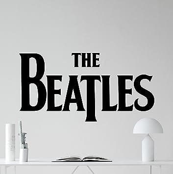 The beatles logo wall decal rock music band vinyl sticker music studio decal rock wall art