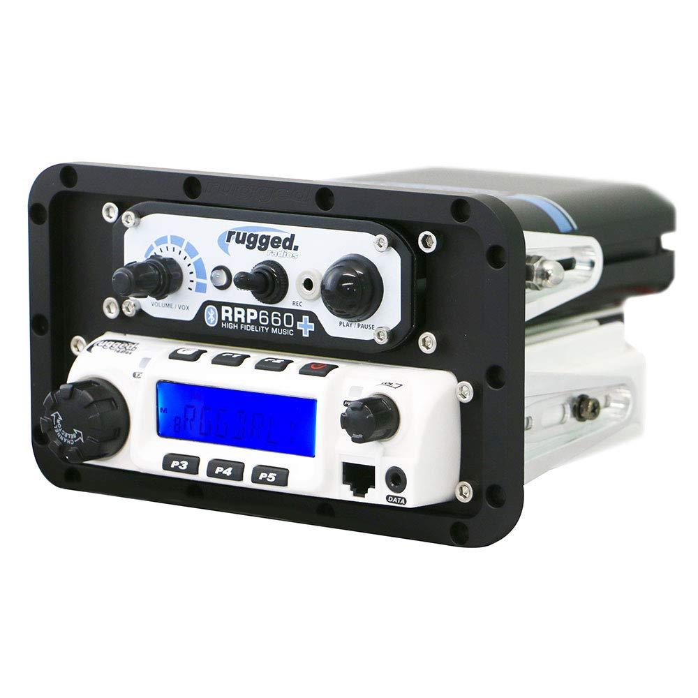 Rugged Radios MT-DM-AL-RM60 In-Dash Mobile Radio /& Intercom Mount