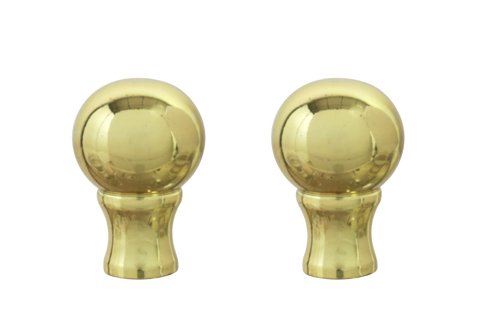 Aspen Creative 24018-12 Steel Lamp Finial Finish, 1 1/2'' Tall (2), 2 PACK, Brass Plated by Aspen Creative