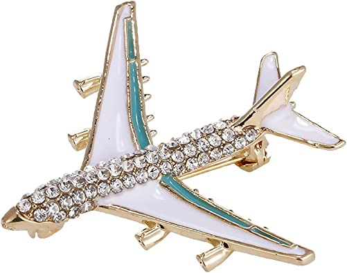 Baoblaze Broche Avion Forme Brochette de Manteau Cristal