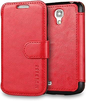 Mulbess Funda Samsung Galaxy S4 Mini [Libro Caso Cubierta] [En Capas de Billetera Cuero de la PU] con Tapa Magnética Carcasa para Samsung Galaxy S4 Mini Case, Vino Rojo: Amazon.es: Electrónica