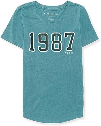 AEROPOSTALE Womens A 1987 Embellished T-Shirt