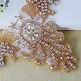 Rose Gold Applique Bridal Rhinestone Applique