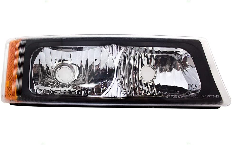 Passengers Park Signal Front Marker Light Lamp with Fog Lamp Replacement for Chevrolet Pickup Truck SUV 15098272