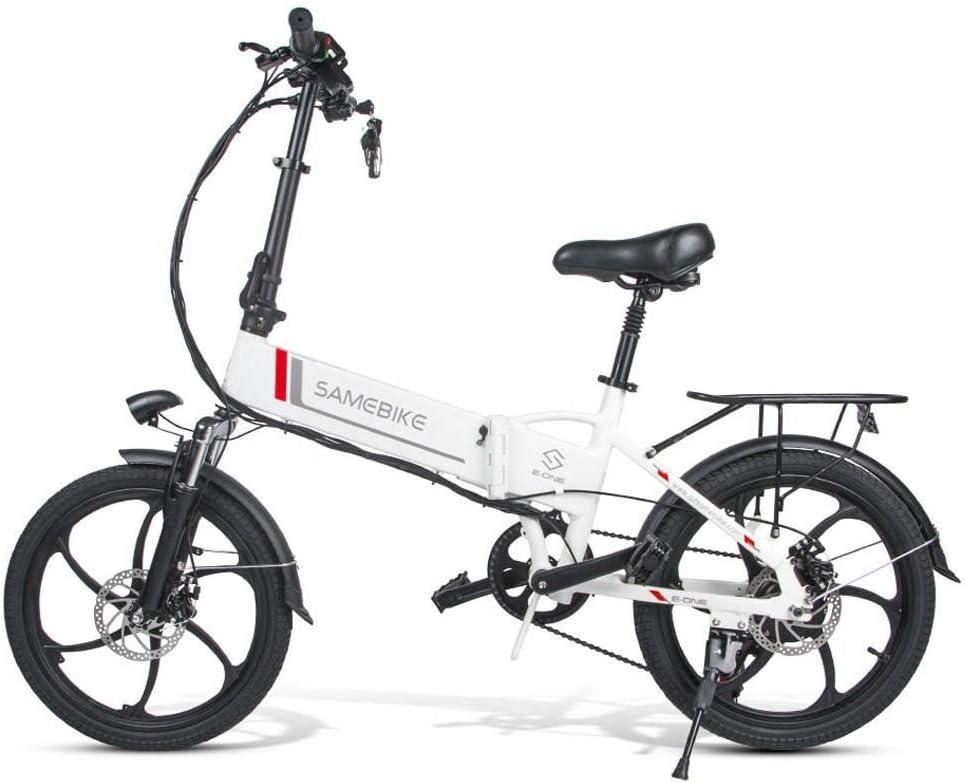 SHIJING Samebike 20LVXD30 portátil Plegable Bicicleta eléctrica de 20 Pulgadas de neumáticos Motor 350W MAX ebike 35 kmh Correo Bicicleta para Adultos: Amazon.es: Deportes y aire libre