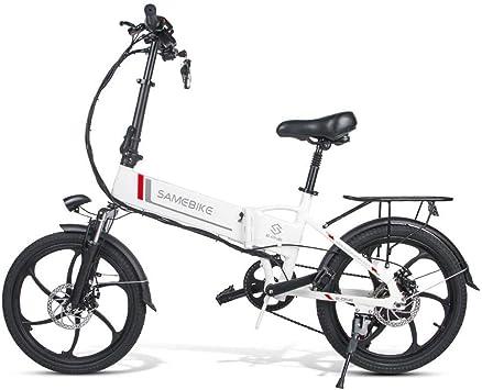 SHIJING Samebike 20LVXD30 portátil Plegable Bicicleta eléctrica ...
