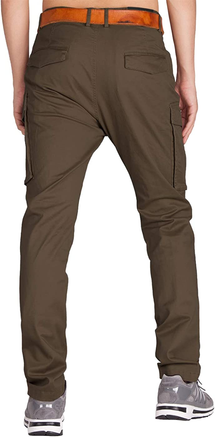 ITALY MORN Mens Cargo Casual Trousers Military Work
