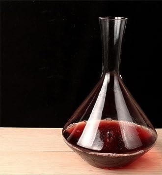 La nueva mano de cristal con forma de jarra de vino tinto Decanter vertedor botella de vidrio barra de botella de champán , G: Amazon.es: Deportes y aire ...