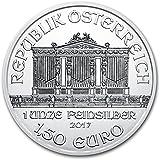 オーストリア ウィーンフィルハーモニー 2017年 1オンス 銀貨 31.1g シルバー コイン 純銀 インゴット 1.50ユーロ