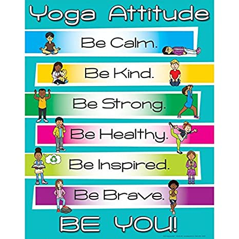 Amazon.com: Really Good Stuff Yoga Attitude Poster: Posters ...