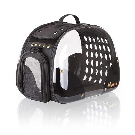Ibiyaya - Transportín para Mascotas con Carga Superior para Gatos y Perros, Plegable, Hecho