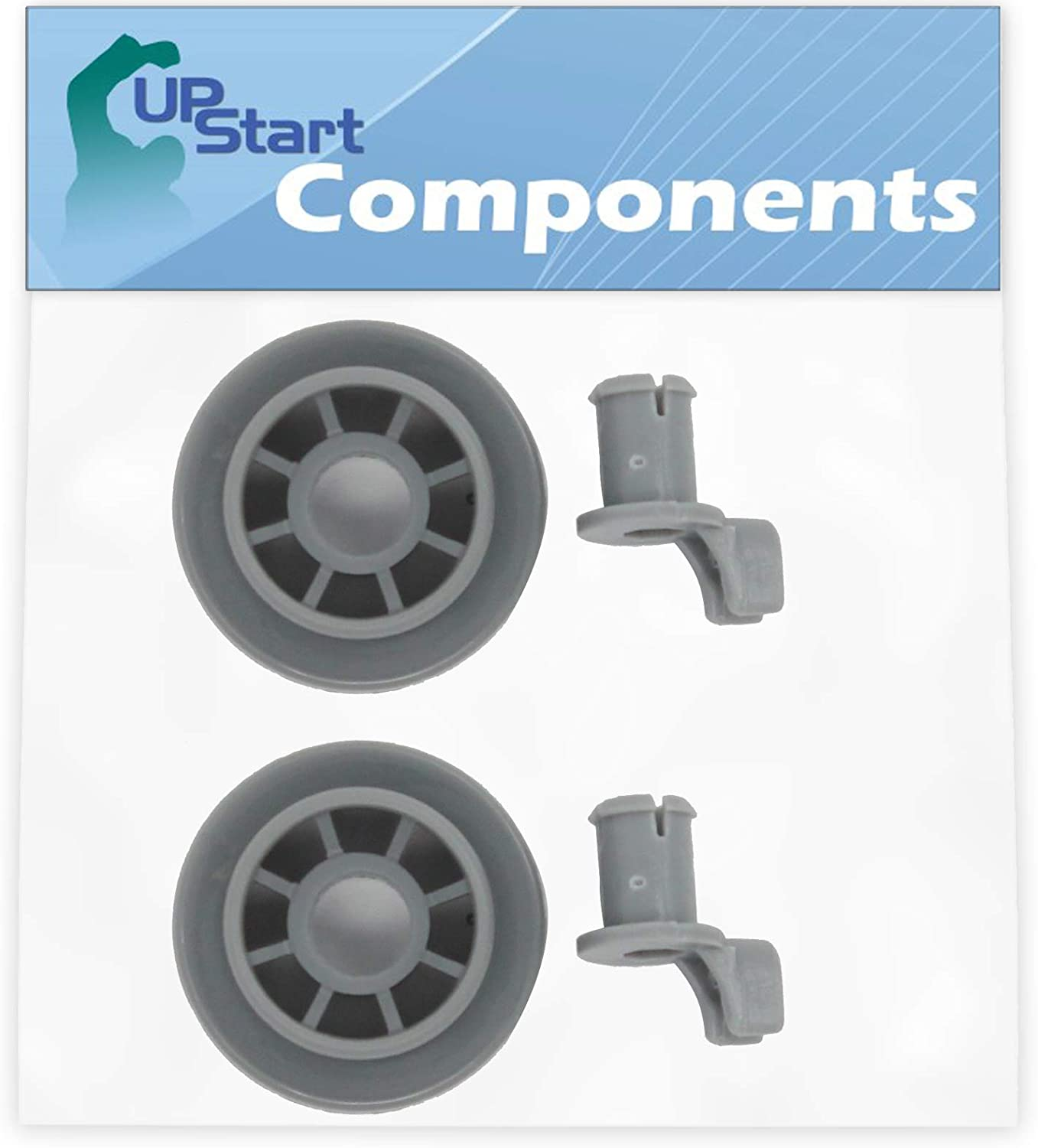 2-Pack 165314 Dishwasher Lower Dishrack Wheel Replacement for Bosch SHE4AM12UC/01 Dishwasher - Compatible with 00165314 Lower Rack Roller - UpStart Components Brand
