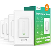 Gosund Smart Dimmer Switch, WiFi Smart Light Switch Work with Alexa and Google Home, 4 Pack, Single-Pole, Remote Control…