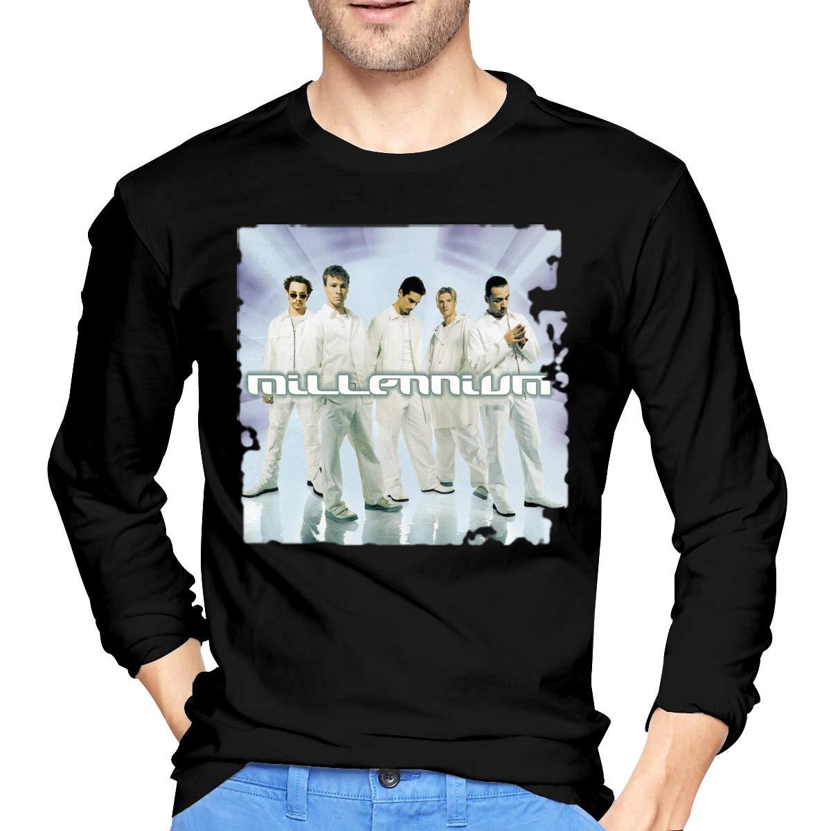 GabrielR Mens Backstreet Boys Millennium Long Sleeve Tshirt Black