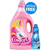 Comfort Fabric Softener Flora Soft, 4 litres with Concentrated Fabric Softener 650 ml