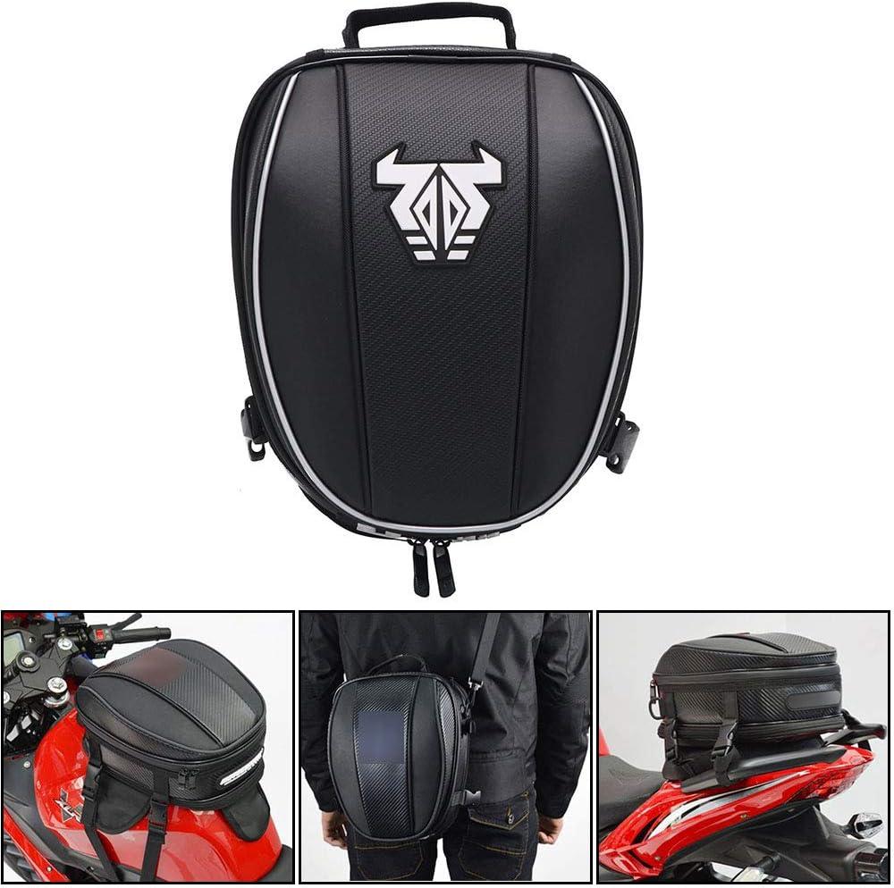Motorrad Hecktasche Wasserdichte Gepäcktasche Sitztasche Motorrad Satteltaschen Multifunktionale Fahrradtasche Sportrucksack Weiß Auto