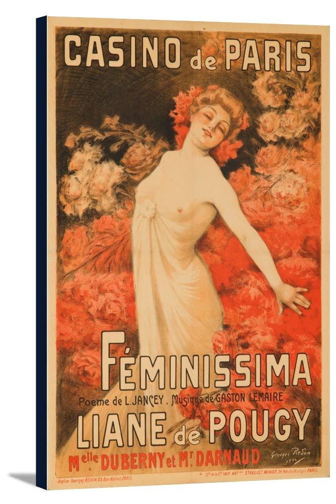 Casino de Paris – Feminissima – リアーヌドプジーヴィンテージポスター(アーティスト: Redon )フランスC。1904 24 x 36 Gallery Canvas LANT-3P-SC-62753-24x36 B0184B6BV8  24 x 36 Gallery Canvas