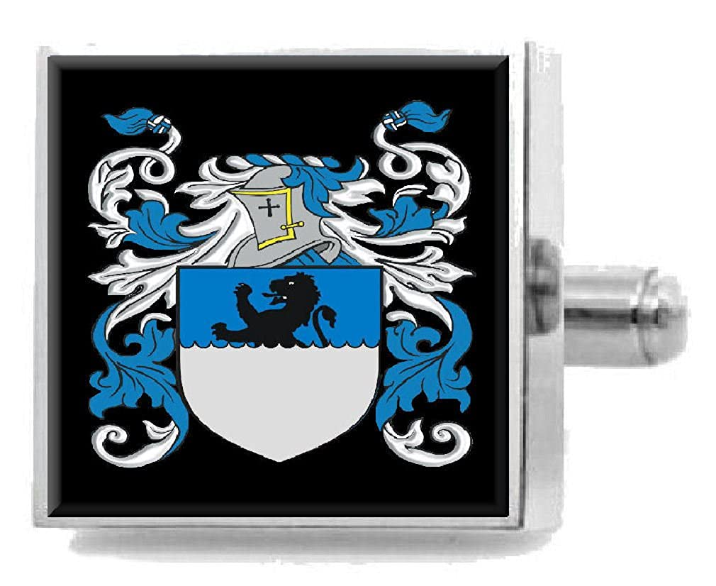 Select Gifts Mcgill Ireland Family Crest Surname Coat Of Arms Cufflinks Personalised Case