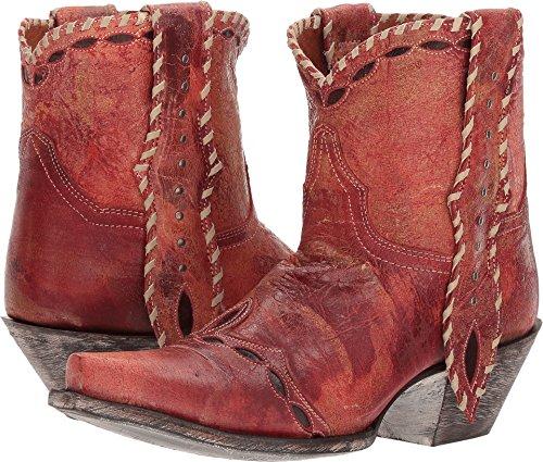 Dan Post Women's Livie Short Boot Snip Toe Red 7.5 M