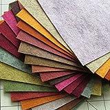 "21 Felt Sheets - 6""X12"" Fall Colors Collection - Made in USA - Merino Wool Blend Felt - OTR Felt"