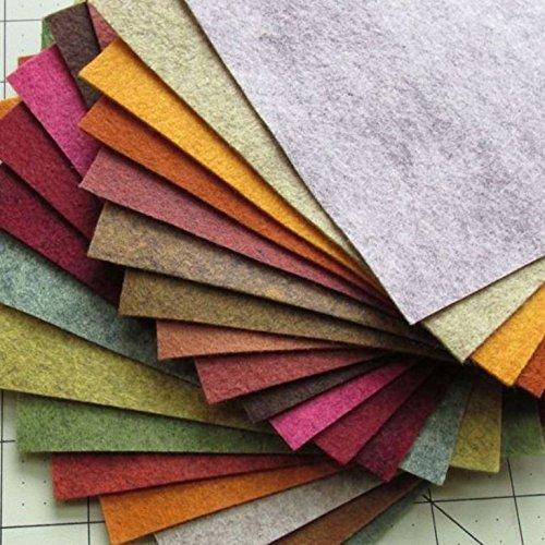 Merino Wool Blend Fall Colors Felt