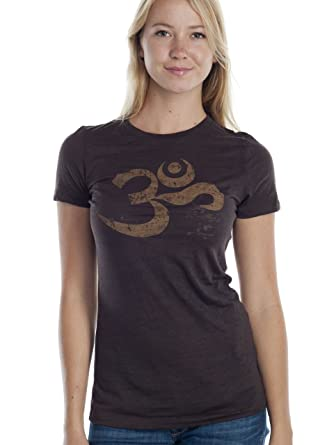 765025803 Amazon.com: Super Buddha Women's Om Mantra Burnout Graphic Tee: Clothing