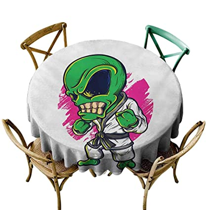 Amazon.com: Dust-Proof Round Tablecloth Outer Space Alien ...