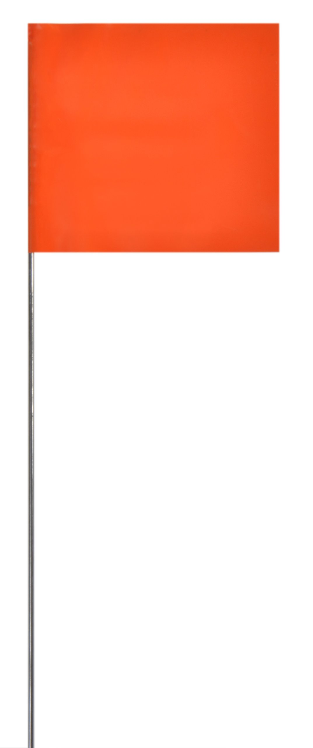 Presco 2315 Safety Flag, 3'' Overall Length, 2'' Overall Width, Orange Glo (Pack of 1000)