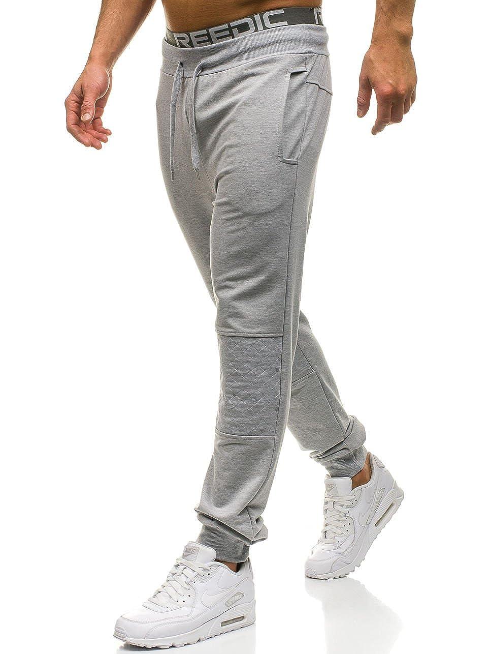 BOLF Pantaloni di tuta – Tipo jogger – Con coulisse – Aderenti – Con sovraimpunture – Stile street – Da uomo 6F6 RED FIREBALL W2667