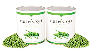 Freeze Dried Green Peas by Nutristore | Pack of 2 | 36.68 Total oz | Amazing