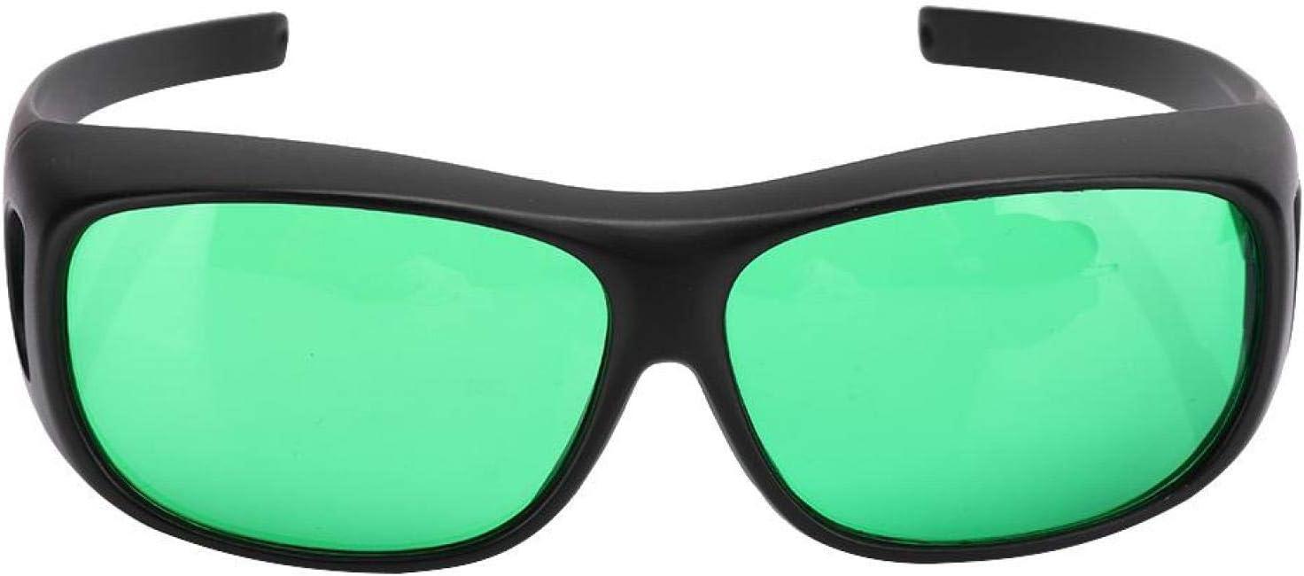 Bloquea todos los rayos UVA y UVB Gafas de cultivo Corrección de color Gafas anti UV, para tiendas de campaña Invernadero Planta hidropónica Luz segura para los ojos