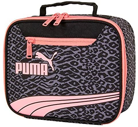 Puma Form Stripe Cheetah Print Lunch Box - Grey Pink Black (Cheetah Print Pumas)