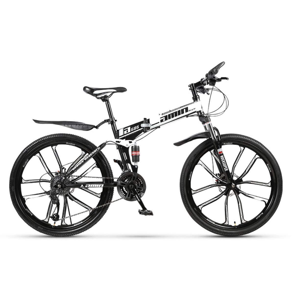 los nuevos estilos calientes 14 24speed Bicicleta de montaña de de de 30 velocidades, Marco de Acero, 26 Pulgadas, Ruedas de 3 radios, Doble suspensión, Bicicleta Plegable  barato y de alta calidad