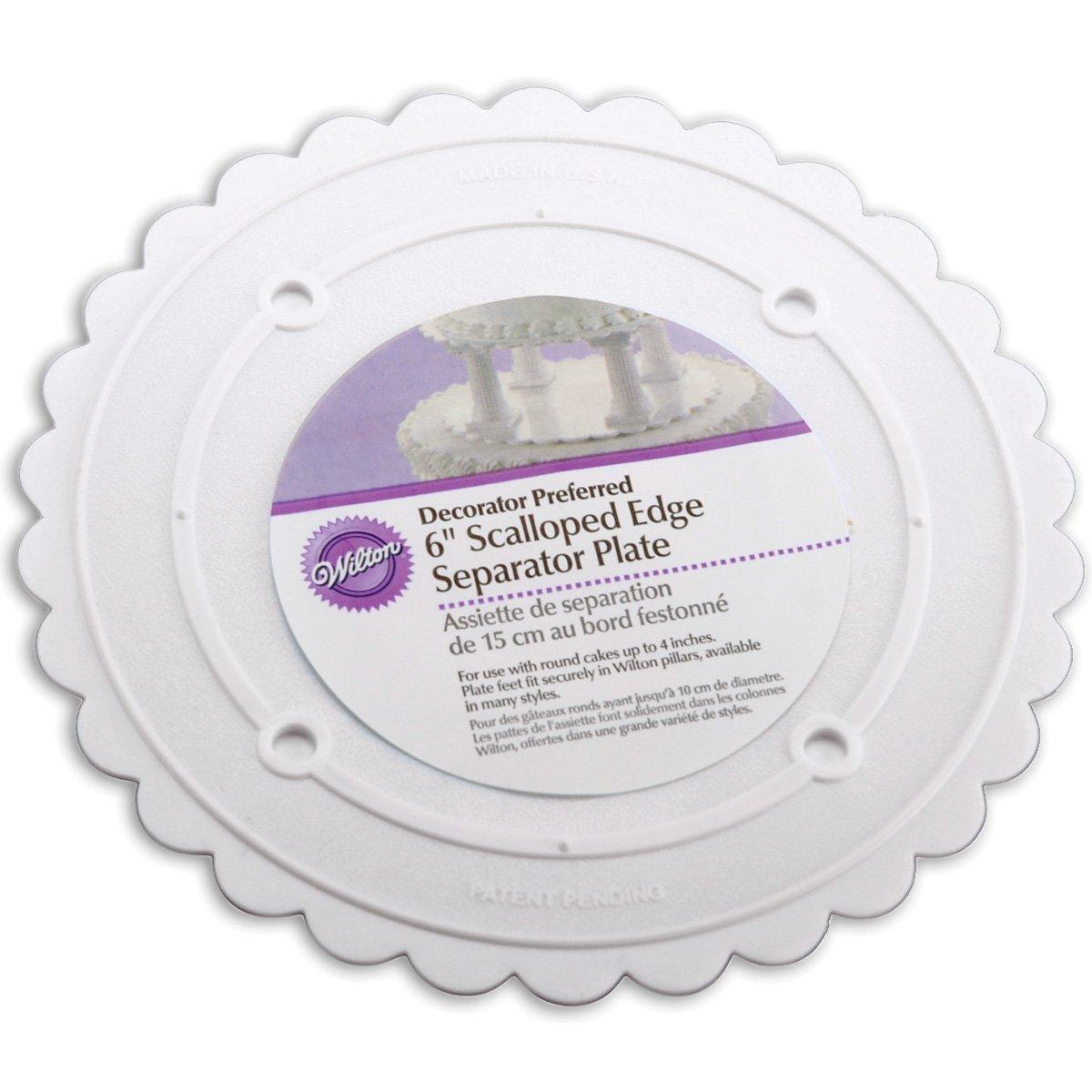 Wilton 302-6 Decorator Preferred Round Separator Plate for Cakes, 6-Inch