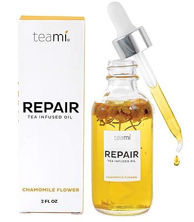 Teami Repair Jojoba Face Oil – with Coconut Oil, Camellia Seed, and Vitamin E 2oz