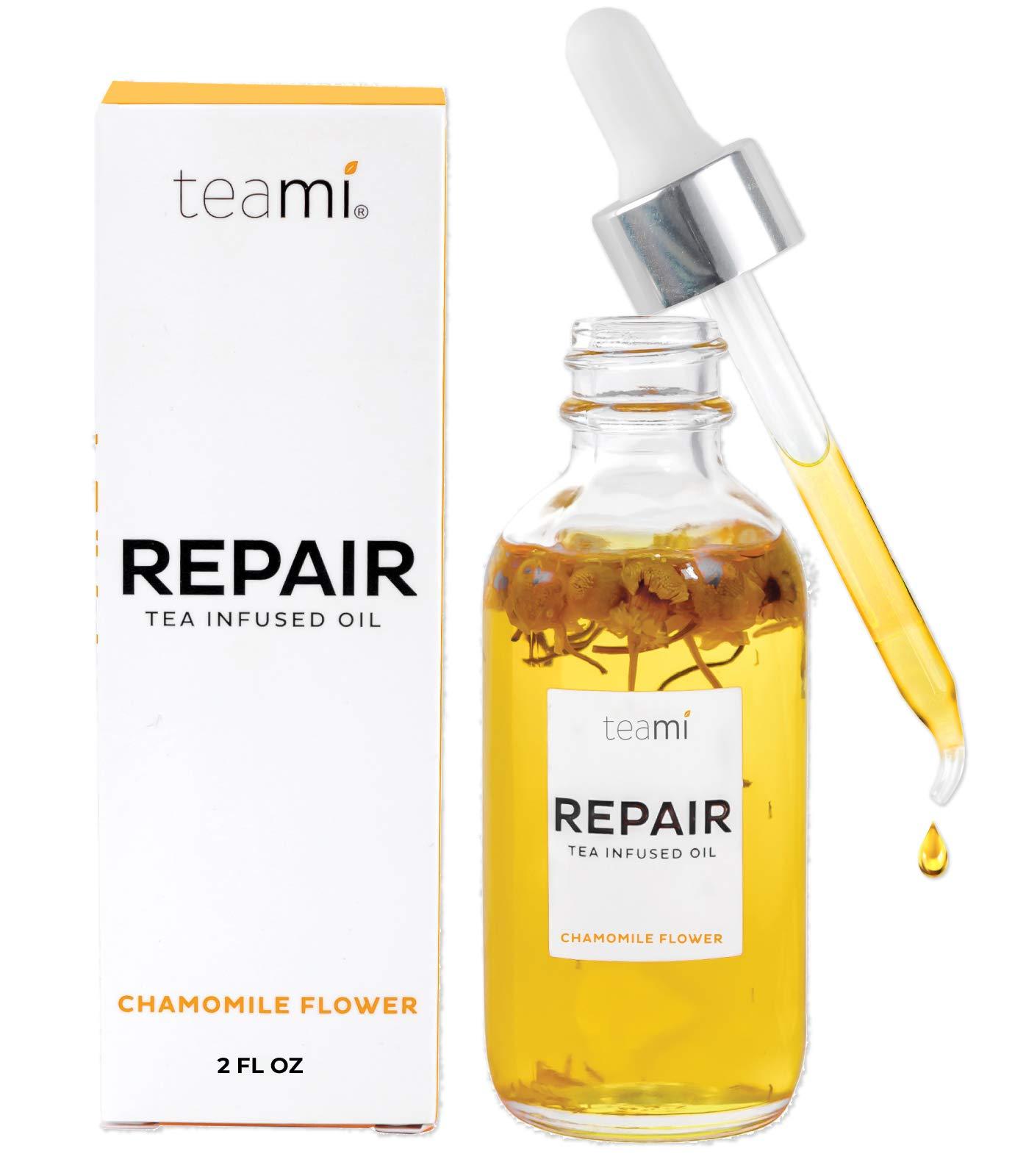 Teami Repair Jojoba Face Oil - with Coconut Oil, Camellia Seed, and Vitamin E (2oz)