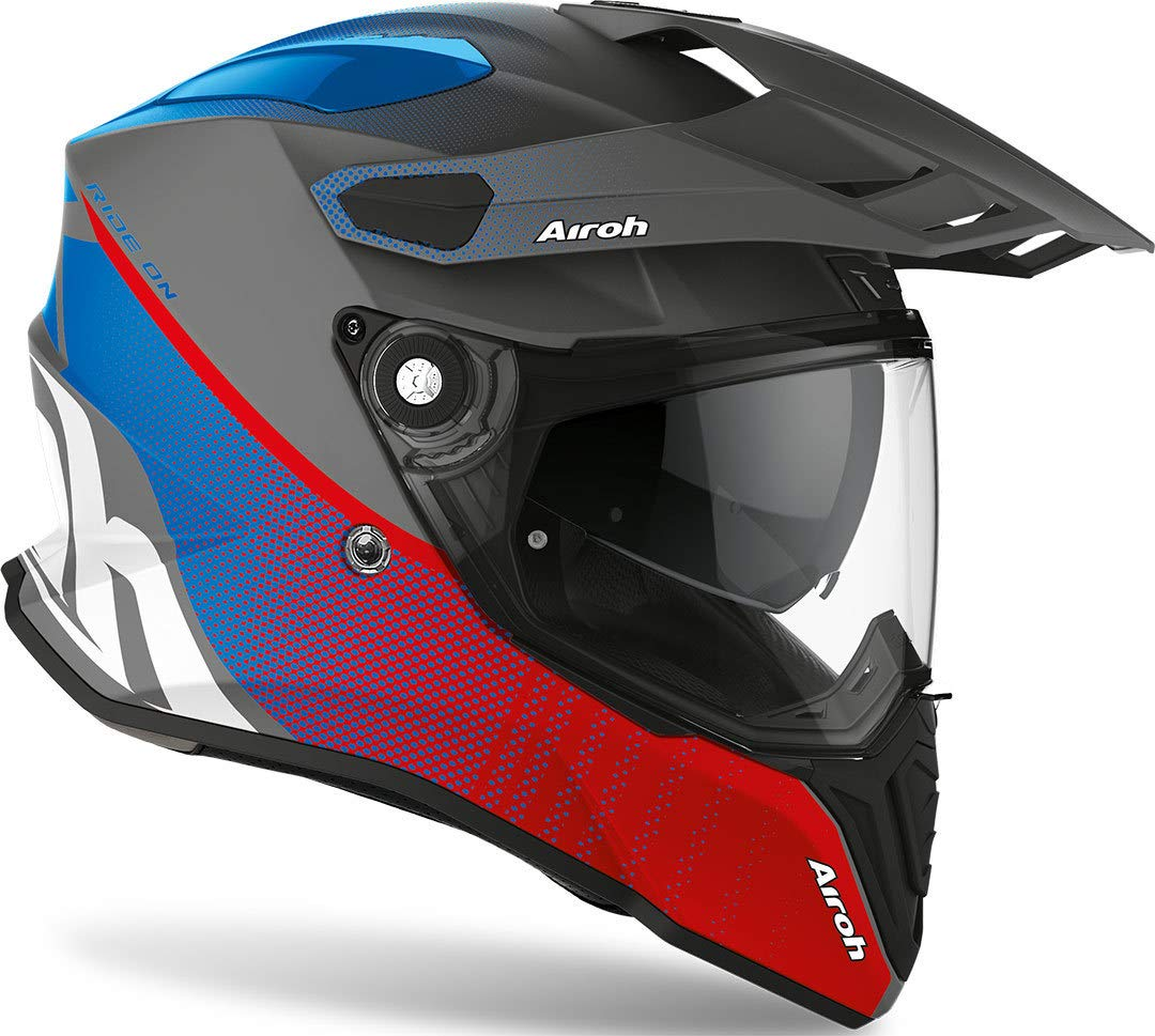 Airoh HELMET COMMANDER PROGRESS RED//BLUE MATT S