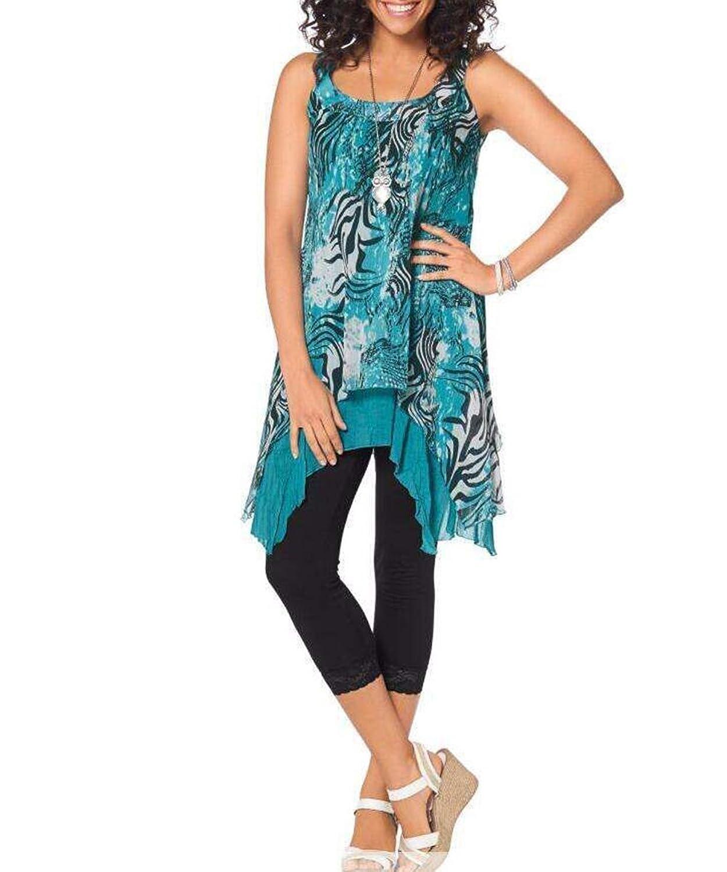 Frauen ärmel Plus Size Kleid Sommerkleid Schal Print Maxi beiläufiges Kleid