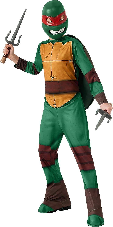 TORTUGAS NINJA - Disfraz de Raphael, para niños, talla L (Rubies 886757-L)