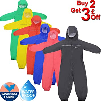 Leopard Puddle Unisex Drip Drop Raincoat Waterproof Windproof 1PC Kids Rain Snow Suit Coat for Boys Girls Lightweight Breathable RainSuit-Black,9-10 Years
