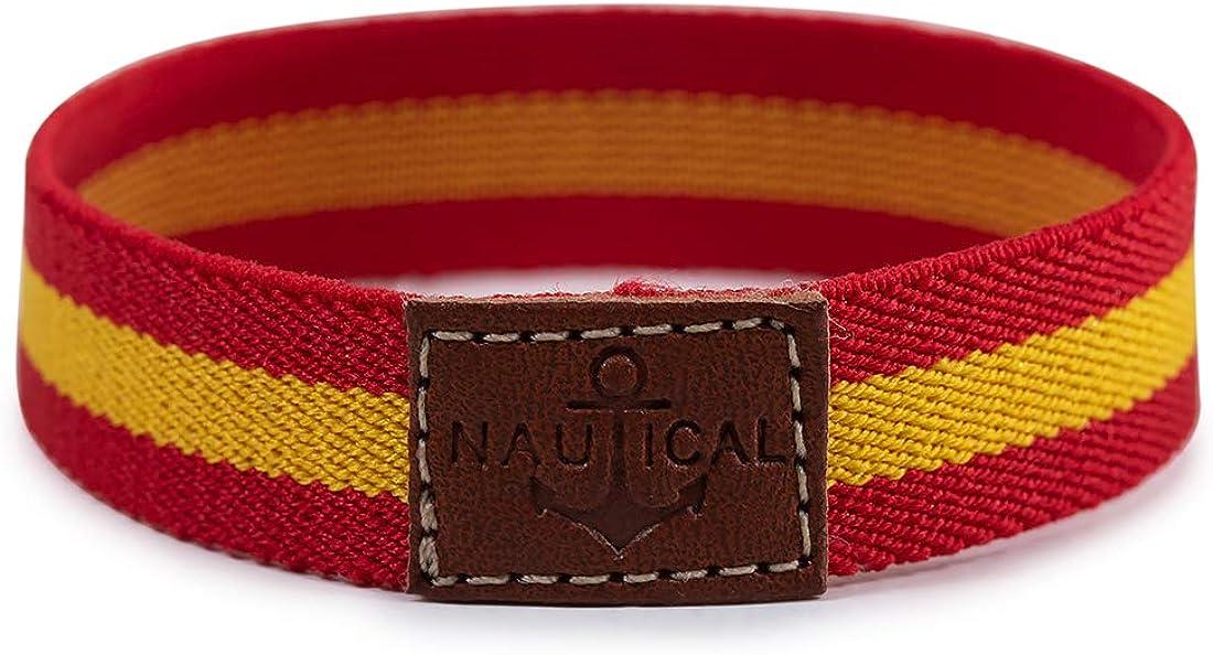 SoloGemelos - Pulsera Elástica De Bandera - Rojo, Amarillo - Hombres - Talla Unica: SoloGemelos: Amazon.es: Ropa y accesorios