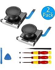 [Neue Version] 2 Pack 3D Ersatz Joystick Analog Thumb Stick für Nintendo Switch Joy-Con Controller - Include Tri -Wing && Screwdriver Tool