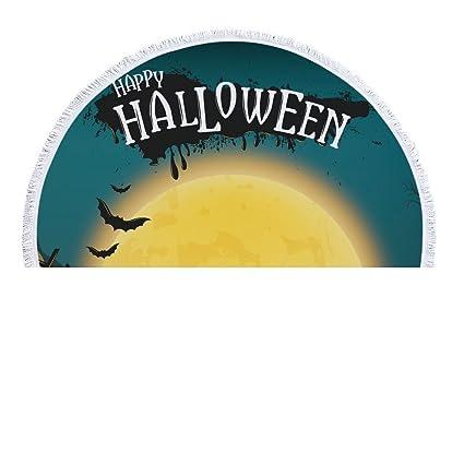 IndButy Toalla de Playa Mantón Envuelto en Toallas Cojines Manta de Playa Halloween Luna Amarilla