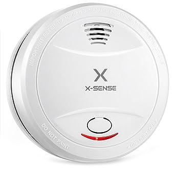 X-Sense SD12 Detector de Humo con Batería de 10 Años de Duración y Sensor